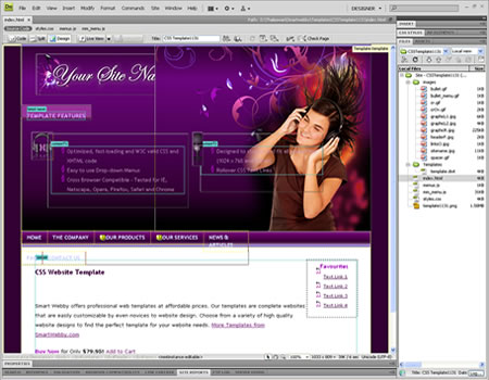 Template 1131 [Personal/General] - Adobe Dreamweaver View