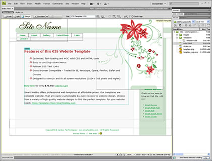 Template 1151 [General] - Adobe Dreamweaver View
