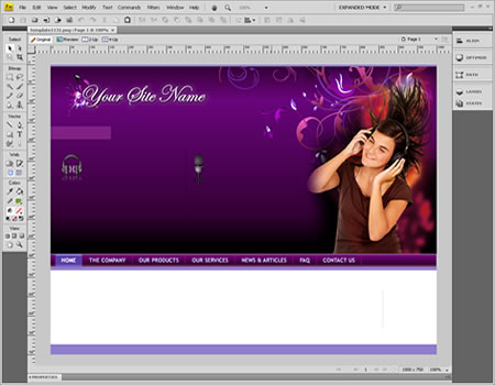 Template 1131 [Personal/General] - Adobe Fireworks View