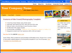 CSS dreamweaver template 122 - travel/photography