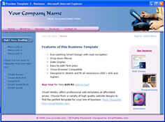CSS dreamweaver template 3 - business
