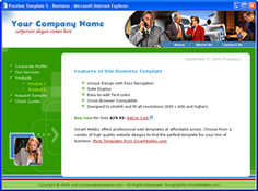 CSS dreamweaver template 5 - business