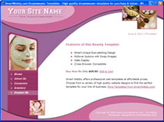 dreamweaver template 7 - beauty