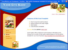 CSS dreamweaver template 7 - food